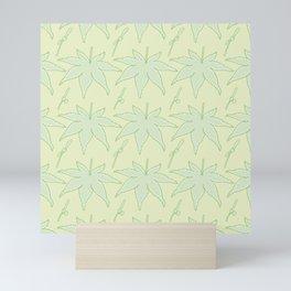 Japanese Maple Leaf and Seed Pattern Mini Art Print