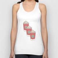 starbucks Tank Tops featuring Christmas Design Starbucks  by swiftstore