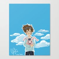 digimon Canvas Prints featuring Digimon Tri by lulovera