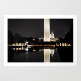 Reflection in color Art Print