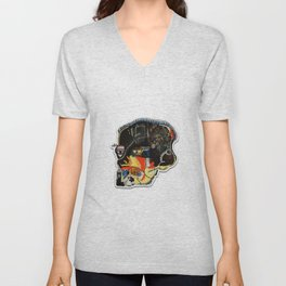 Skull: Homage to Basquiat Unisex V-Neck