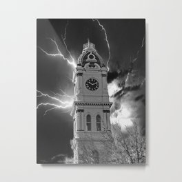 Malvern Town Hall Clock Tower, Australia Metal Print