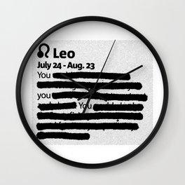Leo 1 Wall Clock
