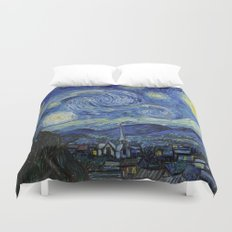Starry Night by Vincent van Gogh Duvet Cover