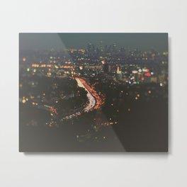 L.A. Skyline. Stardust Metal Print