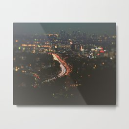 L.A. Skyline Photograph. Stardust Metal Print