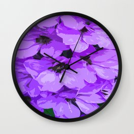 Lupins are lilac Wall Clock