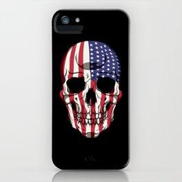 Patriotic Skull - United States Flag - USA Patriot iPhone Case