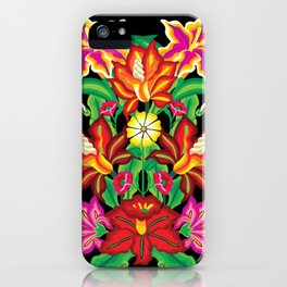 Mexican Exotic Flowers iPhone Case