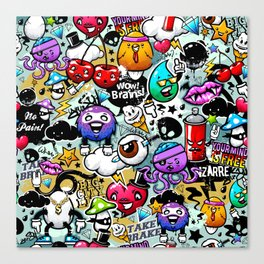 graffiti fun Canvas Print