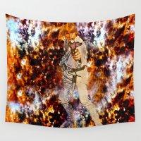 luke hemmings Wall Tapestries featuring Luke Skywalker  by Saundra Myles