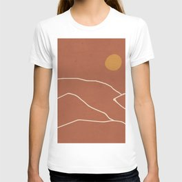 Minimal Abstract Art Landscape 2 T-shirt
