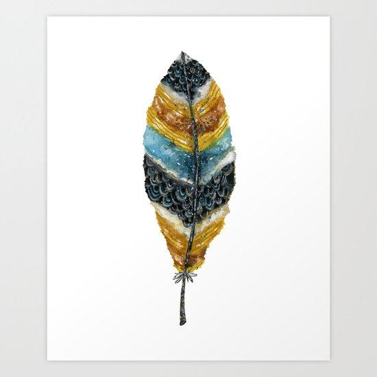 Starlight Feather Art Print