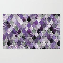Mermaid Purple and Silver Rug