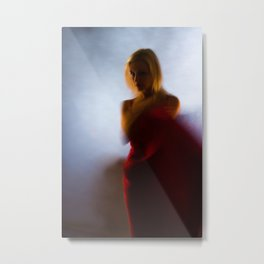 Easy movement of red color Metal Print