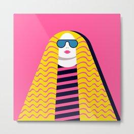 Woman with Long Hair Metal Print