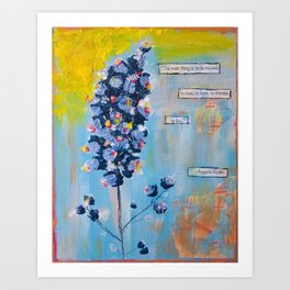 Rodin wildflower Art Print