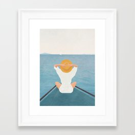 Summer Vacation I Framed Art Print