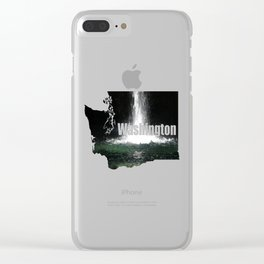Iron Falls Clear iPhone Case