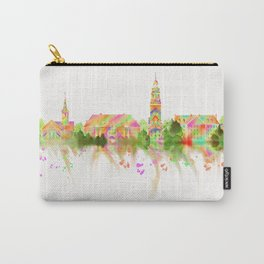 Colorful Harvard University Skyline Carry-All Pouch