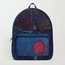 Abstract watercolor landscape with tree Backpack
