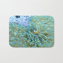 Scared little clownfish Bath Mat