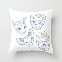 Sphynx Kitties Throw Pillow