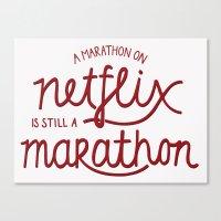 netflix Canvas Prints featuring Netflix Marathon by gsalvatore