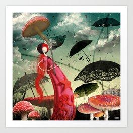 Les parapluies Art Print