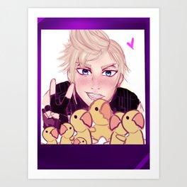 Chocobo selfie! Art Print