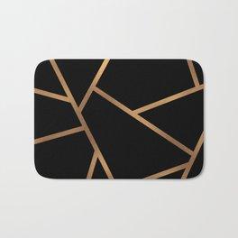 Black and Gold Fragments - Geometric Design Bath Mat