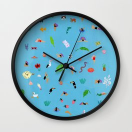 Everybodys here Wall Clock