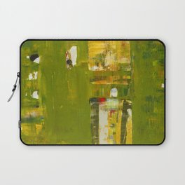 Iodine Green Abstract Art Modern Print Laptop Sleeve