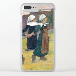 Paul Gauguin, Breton Girls Dancing, Pont-Aven, 1888 Clear iPhone Case