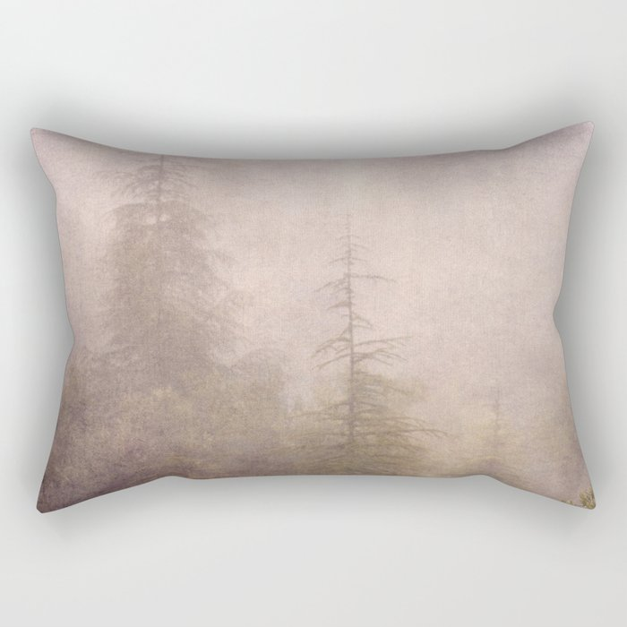 """Mistery forest. Foggy"". Retro serie Rectangular Pillow"