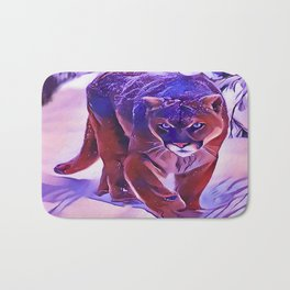 Mountain Lion Hunting in The Snow Bath Mat