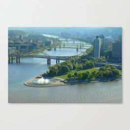 Point State Park in Pittsburgh 16 Canvas Print