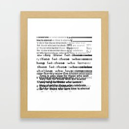 Shakespeare's quote Framed Art Print