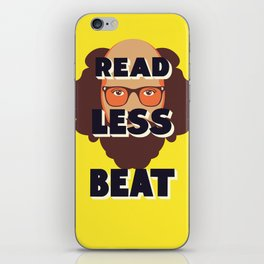 Read Less Beat - Allen Ginsberg iPhone Skin