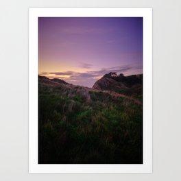 Lulworth Purple Sunset Art Print