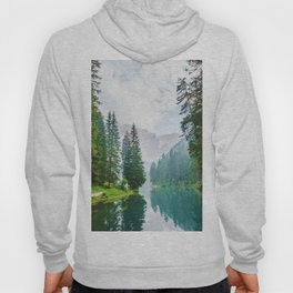 Picturesque River in the Forest (Color) Hoody