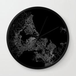 Auckland map New Zeland Wall Clock