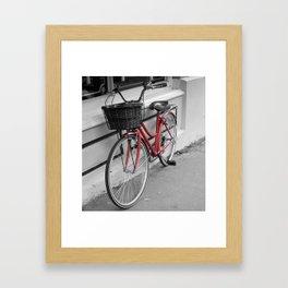 Rosy Red Riding Framed Art Print