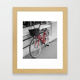 Rosy Red Riding Framed Art Print