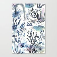 under the sea Canvas Prints featuring Under the Sea by jenna lechner