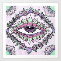 Third Eye Flower Art Print