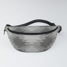 Southwestern Pattern Grey Fanny Pack