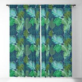 Tropical Leaves (Lets Go Tropical) Blackout Curtain