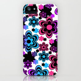 Rainbow Floral Abstract iPhone Case