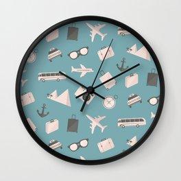 Travel pattern Wall Clock